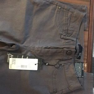 NWT 1822 waxed gray ankle skinny jeans